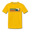 Crested Butte, Colorado Youth T-Shirt - Retro Mountain Youth Crested Butte Tee - sun yellow