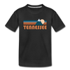 Tennessee Youth T-Shirt - Retro Mountain Youth Tennessee Tee - black