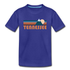 Tennessee Youth T-Shirt - Retro Mountain Youth Tennessee Tee - royal blue