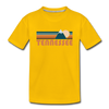 Tennessee Youth T-Shirt - Retro Mountain Youth Tennessee Tee - sun yellow