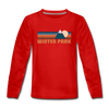 Winter Park, Colorado Youth Long Sleeve Shirt - Retro Mountain Youth Long Sleeve Winter Park Tee - red