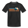 Jackson Hole, Wyoming Toddler T-Shirt - Retro Mountain Jackson Hole Toddler Tee - black