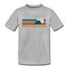 Jackson Hole, Wyoming Toddler T-Shirt - Retro Mountain Jackson Hole Toddler Tee - heather gray
