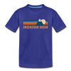 Jackson Hole, Wyoming Toddler T-Shirt - Retro Mountain Jackson Hole Toddler Tee - royal blue