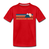 Jackson Hole, Wyoming Toddler T-Shirt - Retro Mountain Jackson Hole Toddler Tee - red
