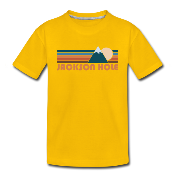 Jackson Hole, Wyoming Toddler T-Shirt - Retro Mountain Jackson Hole Toddler Tee - sun yellow