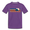 Jackson Hole, Wyoming Toddler T-Shirt - Retro Mountain Jackson Hole Toddler Tee - purple