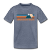 Jackson Hole, Wyoming Toddler T-Shirt - Retro Mountain Jackson Hole Toddler Tee - heather blue