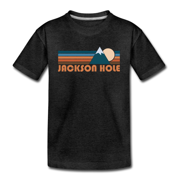 Jackson Hole, Wyoming Toddler T-Shirt - Retro Mountain Jackson Hole Toddler Tee - charcoal gray