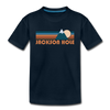 Jackson Hole, Wyoming Toddler T-Shirt - Retro Mountain Jackson Hole Toddler Tee - deep navy