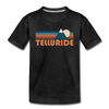 Telluride, Colorado Toddler T-Shirt - Retro Mountain Telluride Toddler Tee - charcoal gray