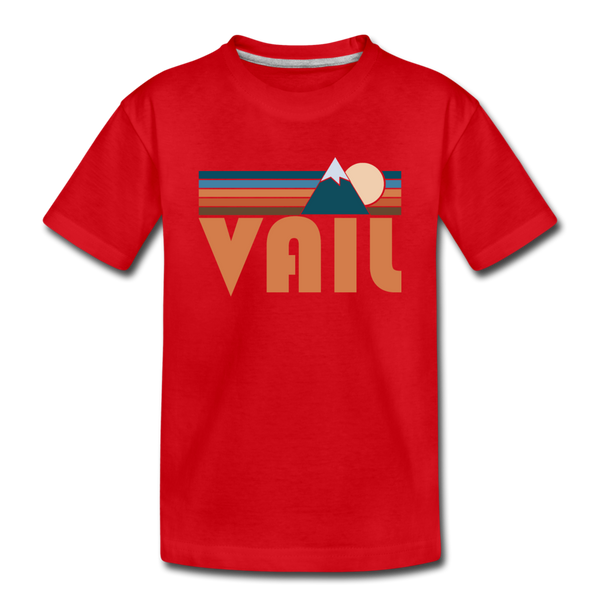 Vail, Colorado Toddler T-Shirt - Retro Mountain Vail Toddler Tee - red