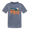 Vail, Colorado Toddler T-Shirt - Retro Mountain Vail Toddler Tee - heather blue