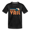 Vail, Colorado Toddler T-Shirt - Retro Mountain Vail Toddler Tee - charcoal gray