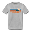 Vermont Toddler T-Shirt - Retro Mountain Vermont Toddler Tee - heather gray