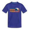 Vermont Toddler T-Shirt - Retro Mountain Vermont Toddler Tee - royal blue