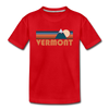 Vermont Toddler T-Shirt - Retro Mountain Vermont Toddler Tee - red
