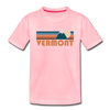 Vermont Toddler T-Shirt - Retro Mountain Vermont Toddler Tee - pink