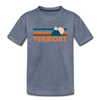 Vermont Toddler T-Shirt - Retro Mountain Vermont Toddler Tee - heather blue