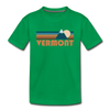 Vermont Toddler T-Shirt - Retro Mountain Vermont Toddler Tee - kelly green