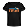 Boulder, Colorado Baby T-Shirt - Organic Retro Mountain Boulder Infant T-Shirt - black
