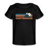 Chattanooga, Tennessee Baby T-Shirt - Organic Retro Mountain Chattanooga Infant T-Shirt - black