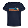 North Carolina Baby T-Shirt - Organic Retro Mountain North Carolina Infant T-Shirt - dark navy