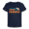 Idaho Baby T-Shirt - Organic Retro Mountain Idaho Infant T-Shirt