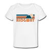Ridgway, Colorado Baby T-Shirt - Organic Retro Mountain Ridgway Infant T-Shirt - white