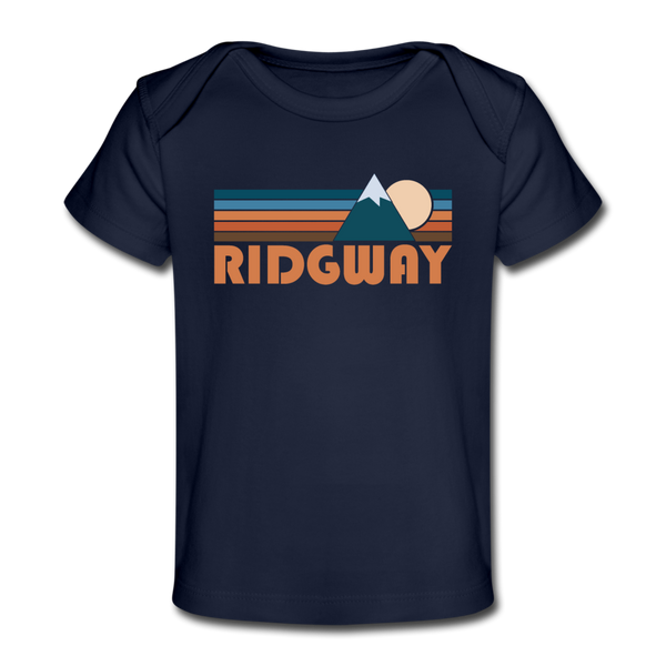 Ridgway, Colorado Baby T-Shirt - Organic Retro Mountain Ridgway Infant T-Shirt - dark navy