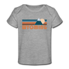 Wyoming Baby T-Shirt - Organic Retro Mountain Wyoming Infant T-Shirt - heather gray