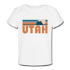Utah Baby T-Shirt - Organic Retro Mountain Utah Infant T-Shirt