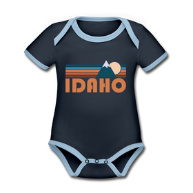 Idaho Baby Bodysuit - Organic Retro Mountain Idaho Baby Bodysuit