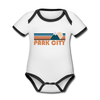 Park City, Utah Baby Bodysuit - Organic Retro Mountain Park City Baby Bodysuit