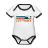 Sun Valley, Idaho Baby Bodysuit - Organic Retro Mountain Sun Valley Baby Bodysuit