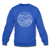 Alaska Sweatshirt - State Design Alaska Crewneck Sweatshirt - royal blue