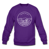 Kentucky Sweatshirt - State Design Kentucky Crewneck Sweatshirt - purple