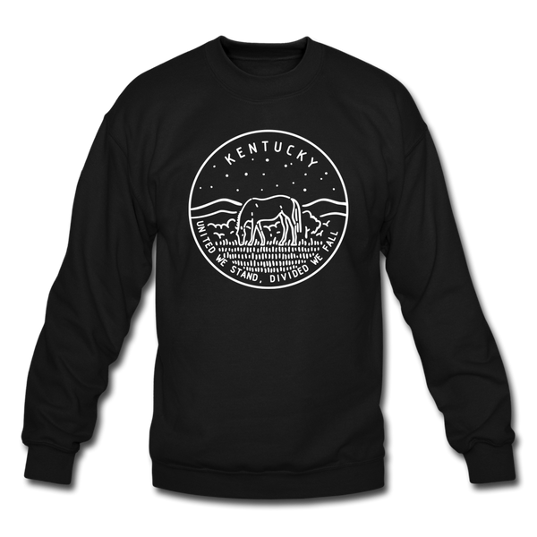 Kentucky Sweatshirt - State Design Kentucky Crewneck Sweatshirt - black