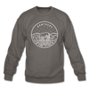 Kentucky Sweatshirt - State Design Kentucky Crewneck Sweatshirt - asphalt gray