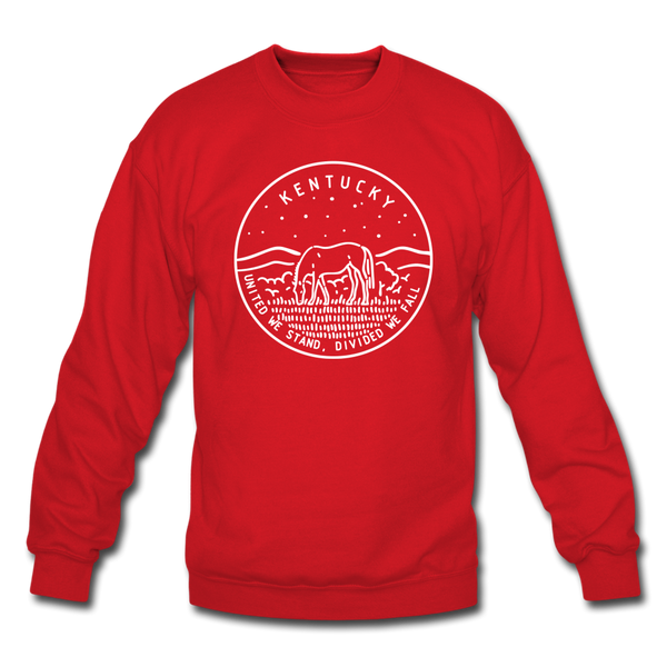 Kentucky Sweatshirt - State Design Kentucky Crewneck Sweatshirt - red