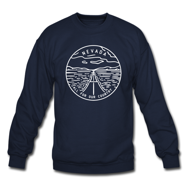 Nevada Sweatshirt - State Design Nevada Crewneck Sweatshirt - navy