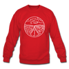 Nevada Sweatshirt - State Design Nevada Crewneck Sweatshirt - red
