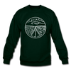 Nevada Sweatshirt - State Design Nevada Crewneck Sweatshirt - forest green