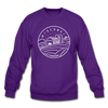 Wisconsin Sweatshirt - State Design Wisconsin Crewneck Sweatshirt - purple