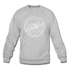 Wisconsin Sweatshirt - State Design Wisconsin Crewneck Sweatshirt - heather gray