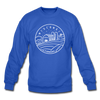 Wisconsin Sweatshirt - State Design Wisconsin Crewneck Sweatshirt - royal blue