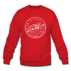 Wisconsin Sweatshirt - State Design Wisconsin Crewneck Sweatshirt - red