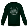 Wisconsin Sweatshirt - State Design Wisconsin Crewneck Sweatshirt - forest green