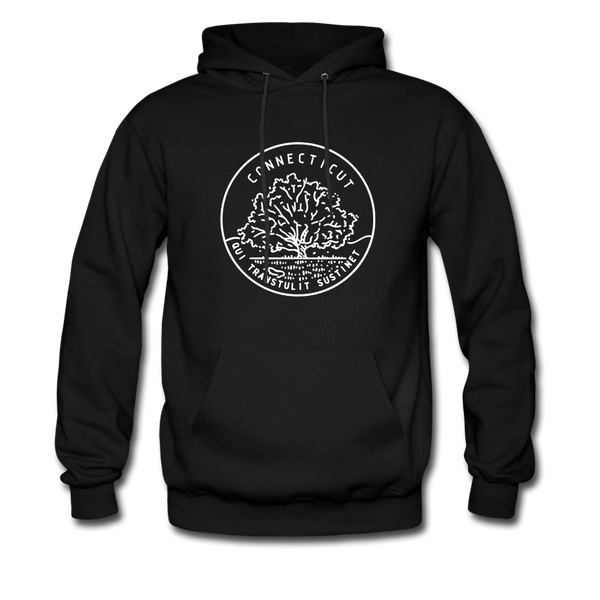 Connecticut Hoodie - State Design Unisex Connecticut Hooded Sweatshirt - black