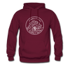 Connecticut Hoodie - State Design Unisex Connecticut Hooded Sweatshirt - burgundy
